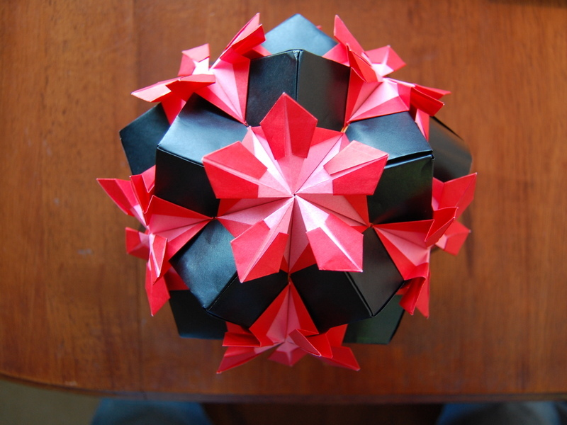 how to make a origami ball step by step