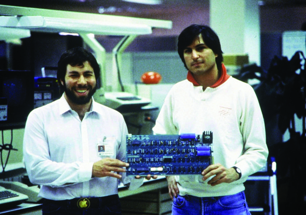01 Jan 1978, USA --- Apple Computer was founded in 1976 by ​​Steve Jobs (right), Steve Wozniak (left) and Ronald Wayne (not pictured) in the garage of their parents jobs in Mountain View (California) founded (archive photo from 1978). Photo: Apple + + + (c) dpa - Report + + | Location: Mountain View, Kalifornien, United States of America.  --- Image by © DB Apple/dpa/Corbis