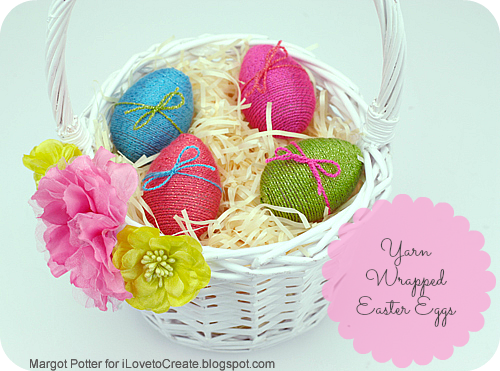Yarn Wrapped Easter Eggs
