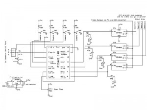 V30 Home security Schematic for Picaxe-14M switcher