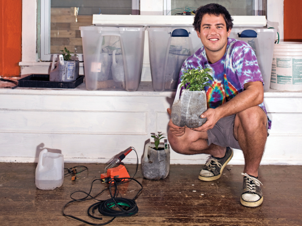 Garduino Geek Gardening Create an automated watering, light, and temp control system.