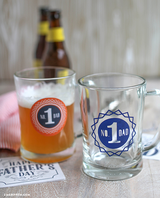 Designs for Dad: Printable Father's Day Beer Glass Decals and Coaster Tags