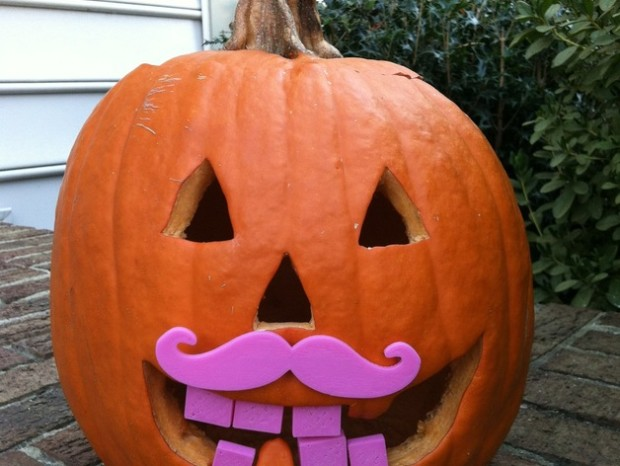 DesignMakeTeach's Pumpkin Moustache will give your Jack O' Lantern a comedic look in many different colors.