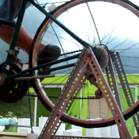 Can You Figure Out How This Bike-Powered Water Pump Works?