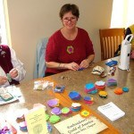 Fiber arts projects, like these felt flowers at Warren County Headquarters Library, were popular with beading, embroidery and sewing activities at many locations. Photo credit: Kelly Durkin