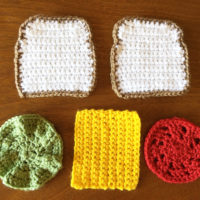 Crocheted Drink Coasters Stack Up as a Veggie Sandwich