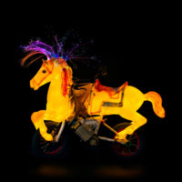This Glowing Pony Bike Can Reach 20 MPH for Extra Fast Whimsy