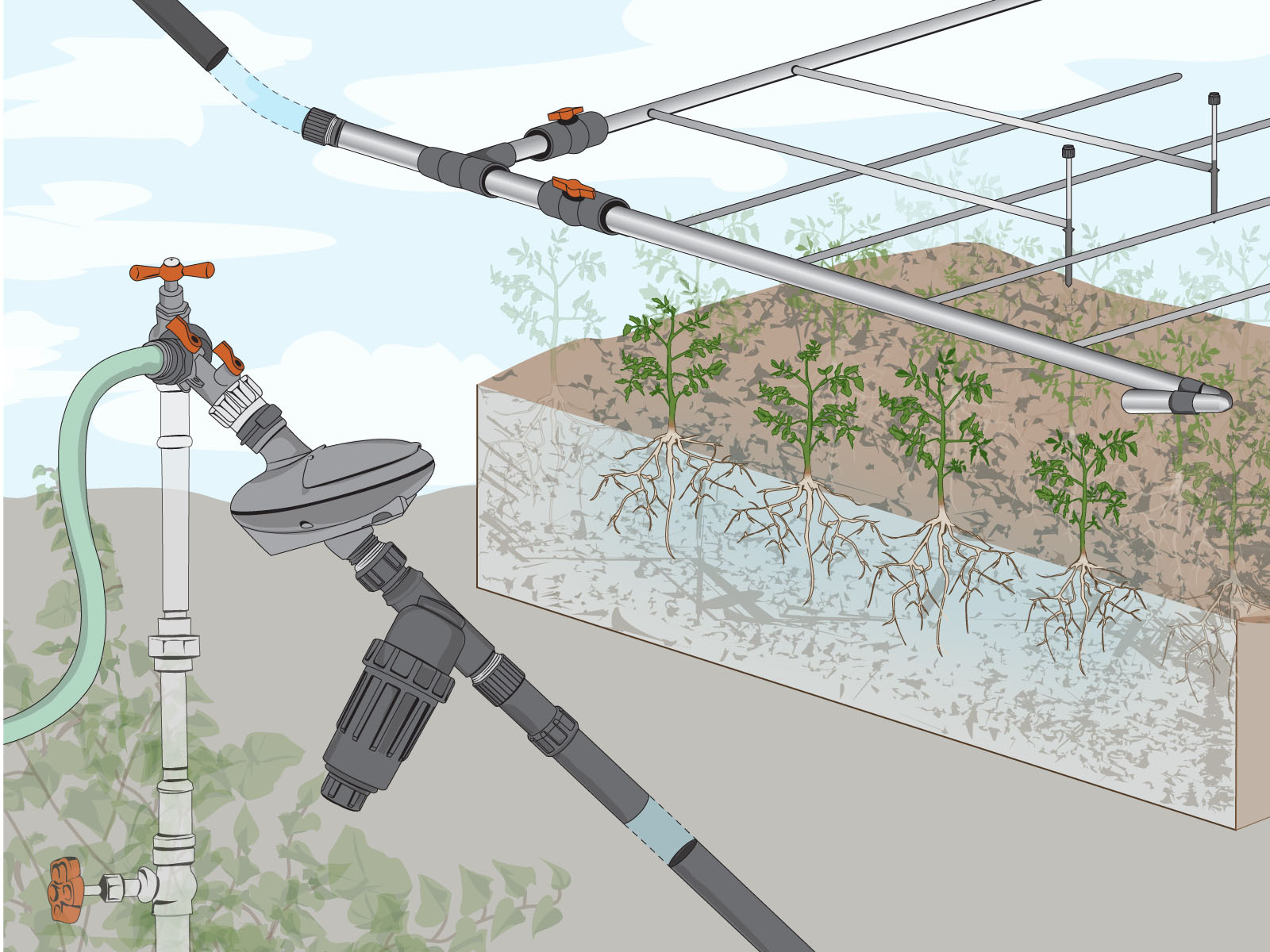 How To Design An Irrigation System At Home home sprinkler system design home irrigation system diagram how to cheap home irrigation design Drip Irrigation Basics